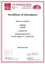 Certificate for attendance