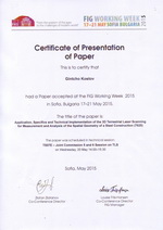 Certificate for presentation