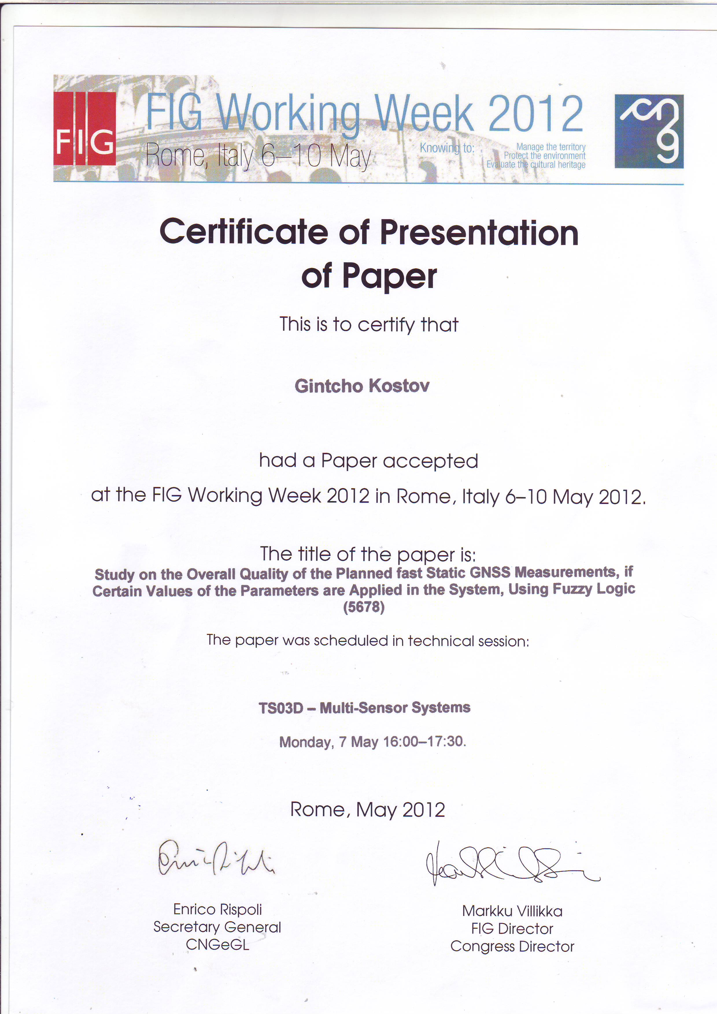 download surveying papers and presentations